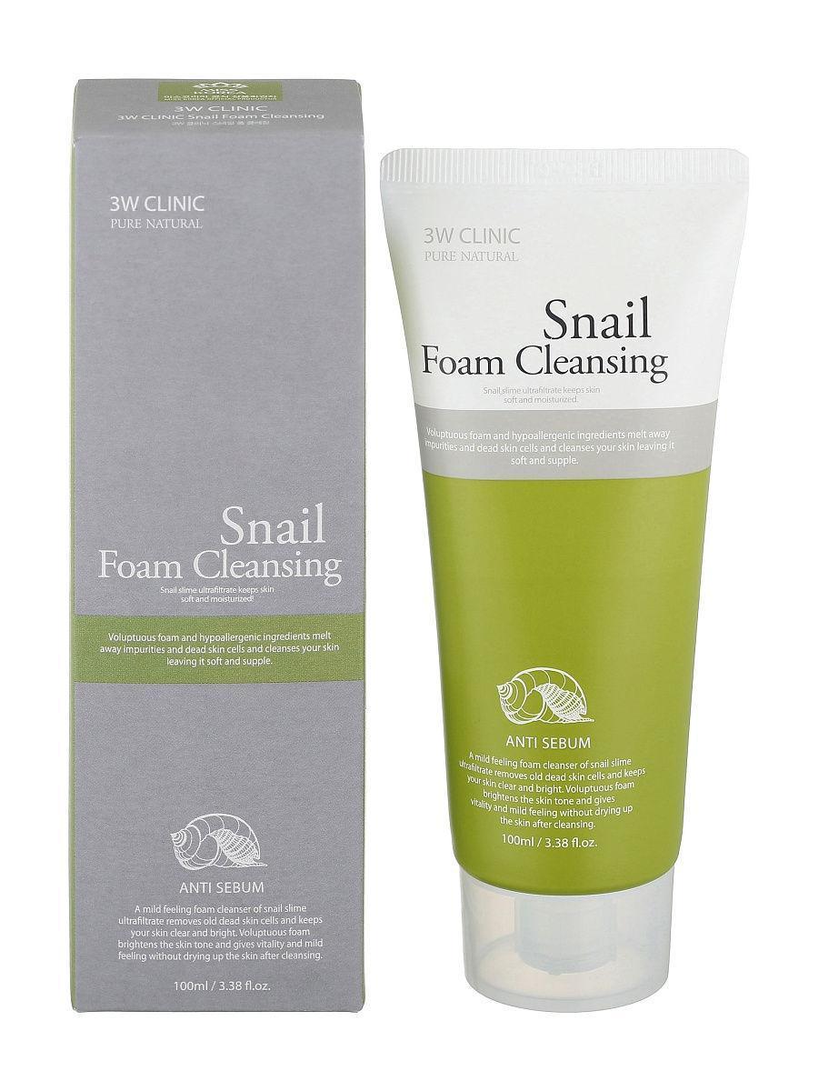 Пенки для умывания Пенка для умывания УЛИТОЧНЫЙ МУЦИН 3W CLINIC Snail Foam Cleansing 100 мл 188005564_w640_h640_188005564.jpg