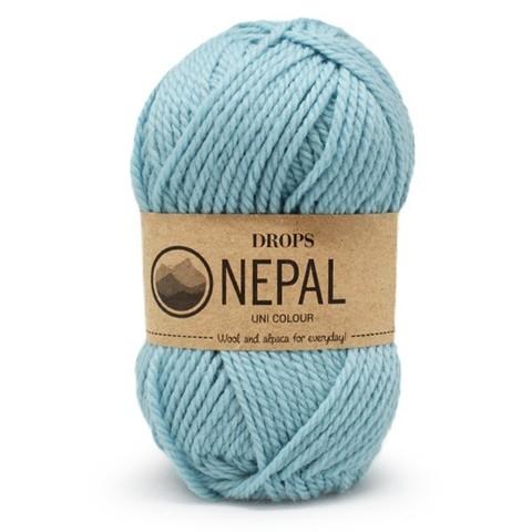 Пряжа Drops Nepal 8908 небесно-голубой