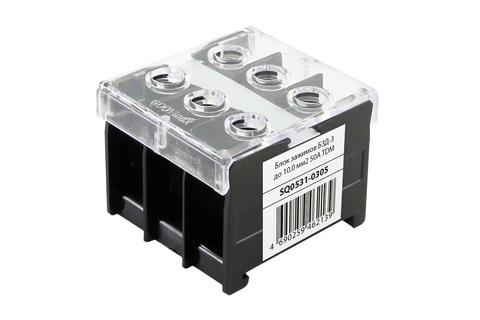 Блок зажимов БЗД-3 до 10,0 мм2 50A TDM