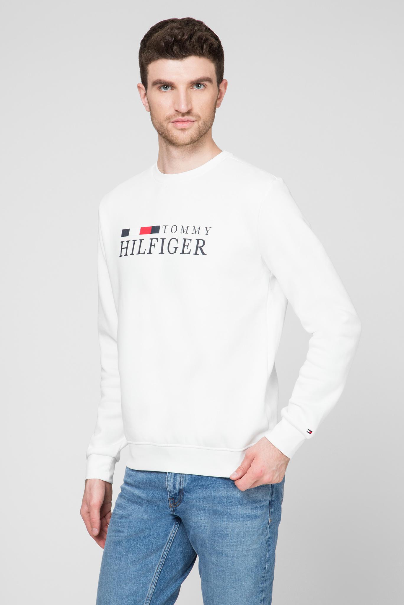 Мужской белый свитшот BASIC Tommy Hilfiger