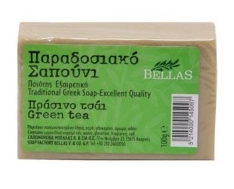 Натуральное оливковое мыло с зеленым чаем Bellas 100 гр