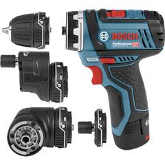 Аккумуляторная дрель-шуруповерт Bosch GSR 12 V-15 FC(FlexiClick) 2,0Ah x2 L-boxx (06019F6000)
