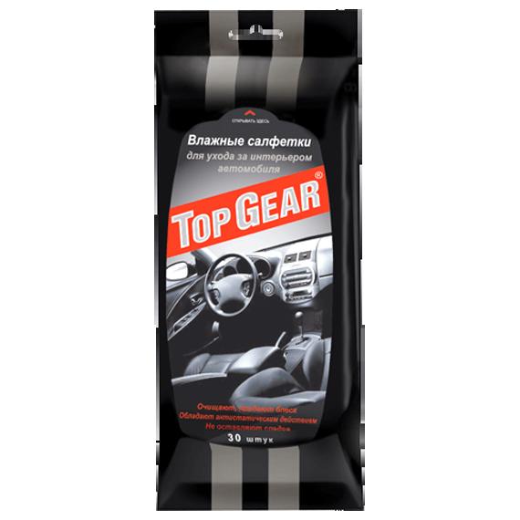 Салфетки влажные Top Gear для ухода за интерьером автомобиля
