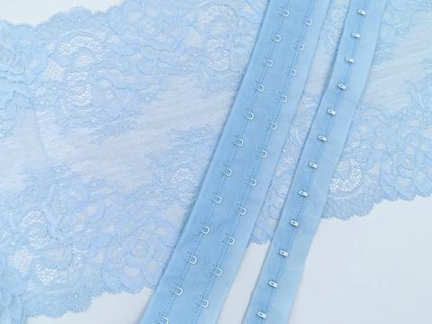 Крючки-петли на ленте, небесно-голубой, (Арт: KPL-051)