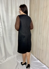 Сієра. Красива повсякденна жіноча замшева сукня. Шоколад