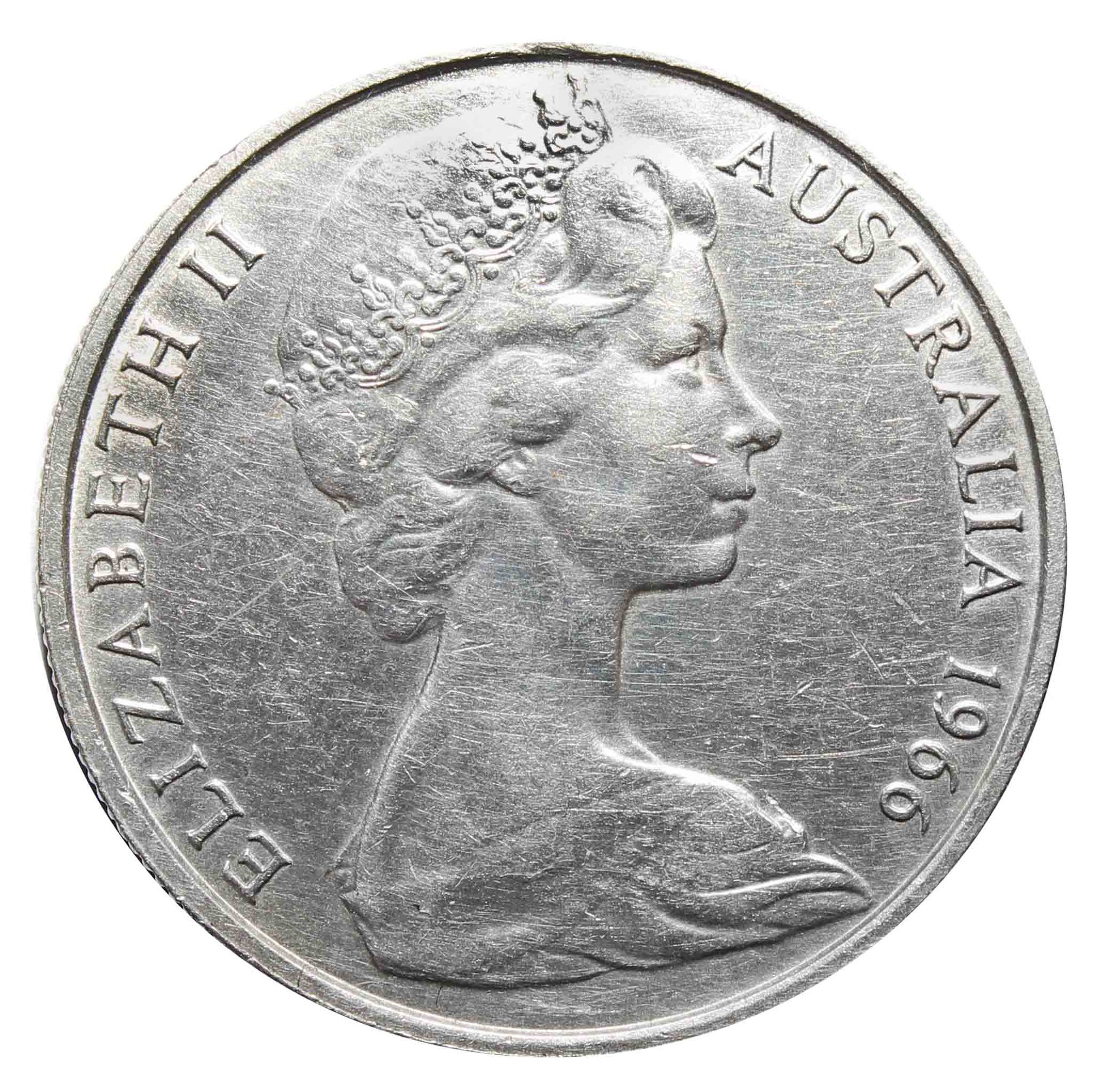 50 центов. Австралия. 1966 год. Серебро. VF-XF