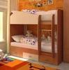 Кровать двухярусная (цвет - бук/персик)