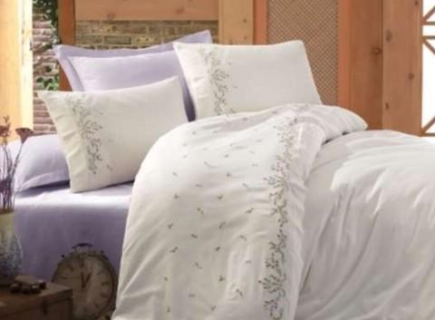 Комплект постельного белья DANTELA VITA сатин с вышивкой Евро NIL