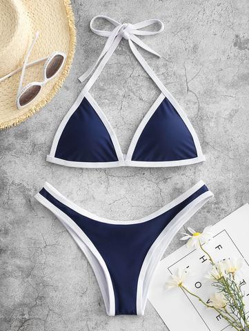 купальник раздельный бикини спортивный синий 1