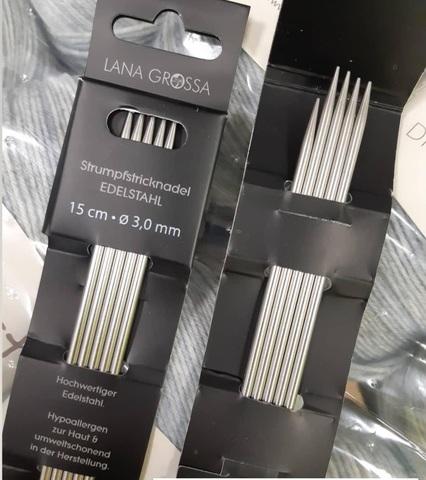 Чулочные спицы Lana Grossa (нержавеющая сталь) 15 см