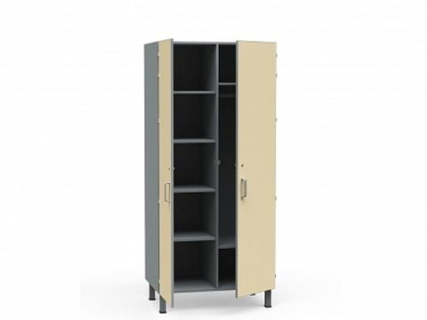 Шкаф медицинский для белья и одежды  комбинированный БТ-Шок-80 - фото