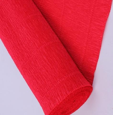 Бумага гофрированная, цвет 580 красный, 180г, 50х250 см, Cartotecnica Rossi (Италия)