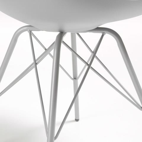 Cтул Lars серый с металлическими ножками