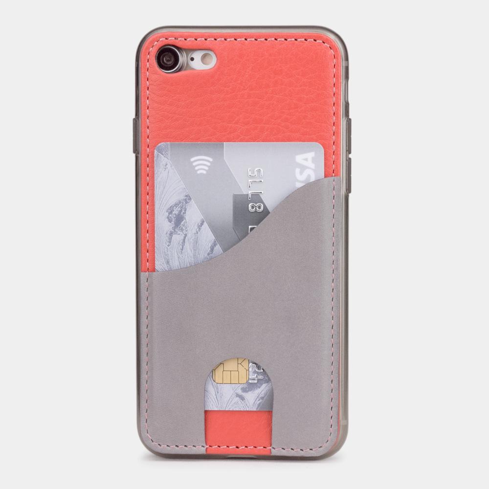 Чехол-накладка Andre для iPhone 7 из натуральной кожи теленка, кораллового цвета