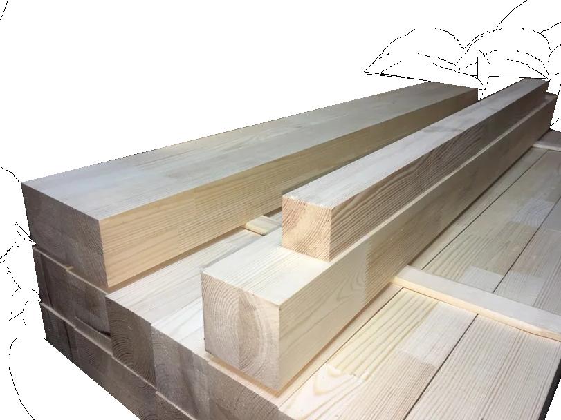 Мебельный брус - сосна сращенная 80 мм х 80 мм х 1200 мм