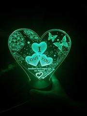 Сердечки с бабочками