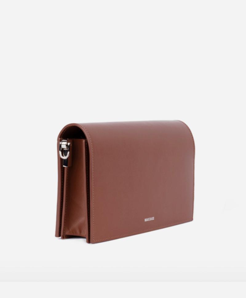 Сумка-книжка большая коричневая