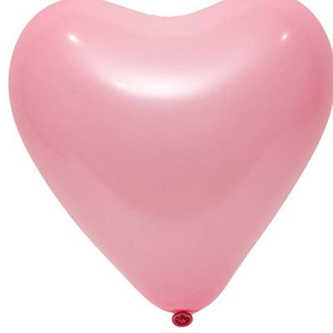 Сердце розовое 12