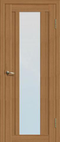 Дверь La Stella 205, стекло матовое, цвет дуб сантьяго, остекленная