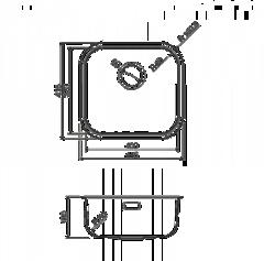 Мойка Omoikiri Omi 44-AB - схема
