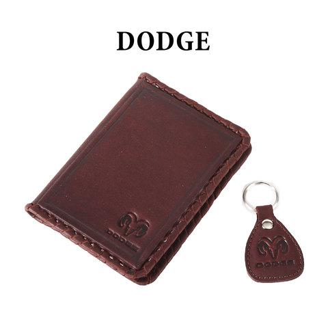 Обложка для водительского удостоверения с брелком «DODGE»