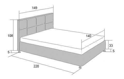 Габариты кровати