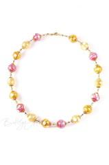 Ожерелье Белла золотисто-розового цвета