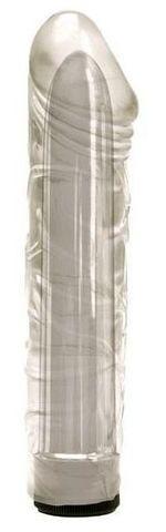 Прозрачный мультискоростной вибратор-реалистик Magician - 17 см.
