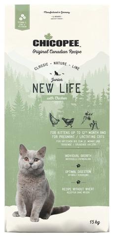 Купить корм CHICOPEE CNL Cat Junior New Life Chicken для котят