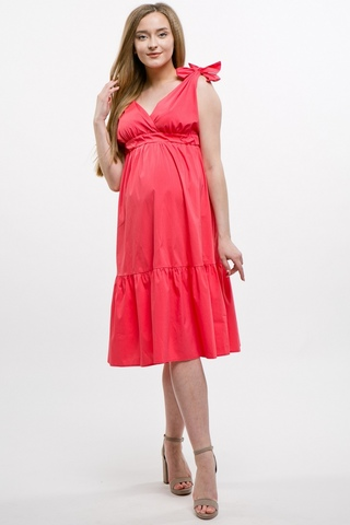 Платье для беременных 10394 коралл