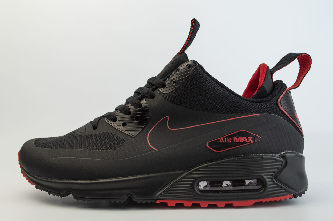 кроссовки Nike Air Max 90 Mid Winter Black / Red
