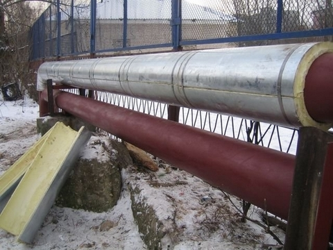 СТУ-О: теплогидроизоляционная конструкции в оцинкованных или алюминиевых обечайках с гофрированной накладкой в верхней части