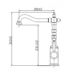 Смеситель KAISER King 27144/2070800 для кухни схема