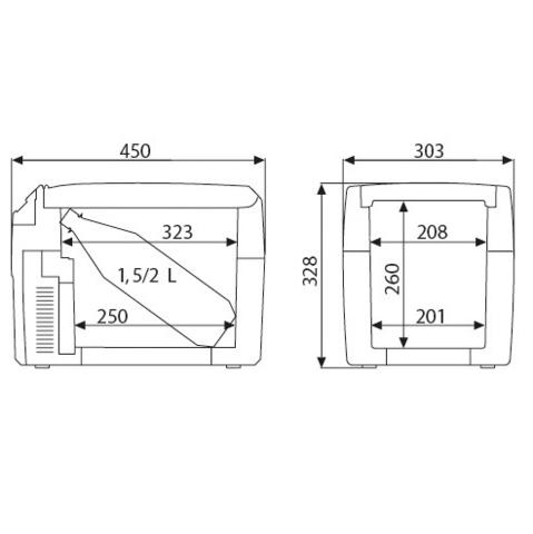 Автохолодильник Dometic TropiCool TCX-14, 14л, охл./нагр., пит. (12/24/220V)
