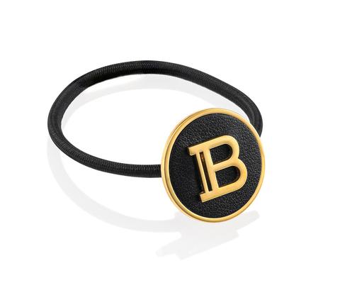 Заколка- резинка цвет черный+ золотой лого B/Limited Edition Elastique Pour Cheveux B Logo FW20