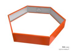 Клумба многоугольная оцинкованная 1 ярус RAL 2004 Оранжевый
