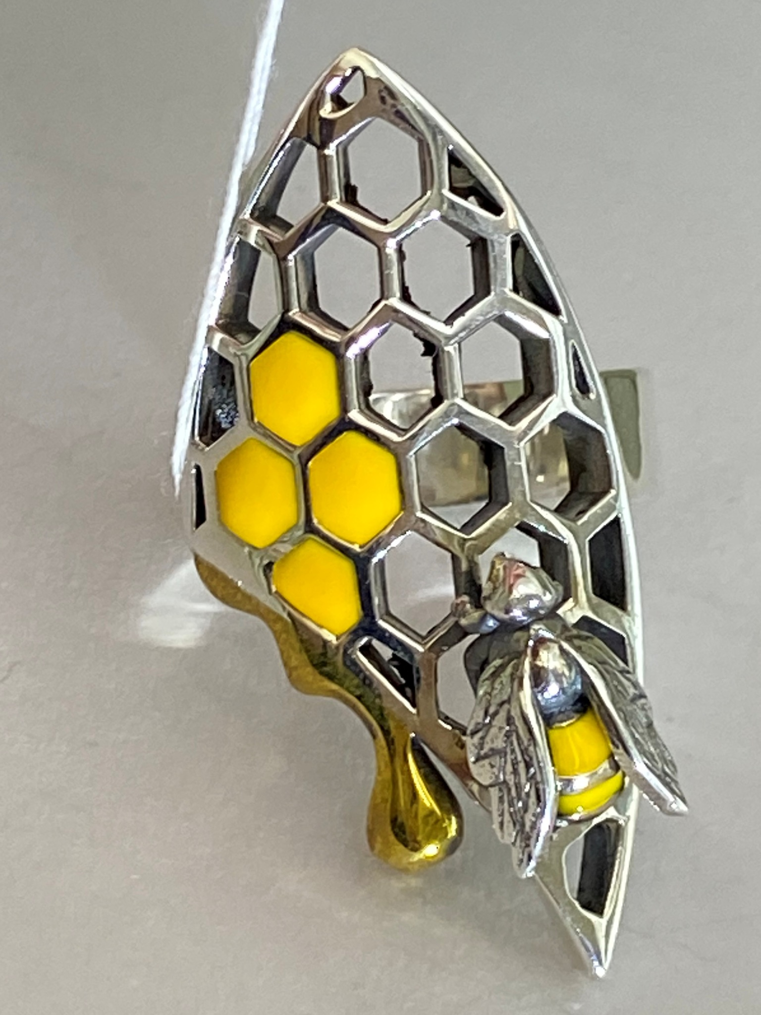 Пчелка (кольцо из серебра)