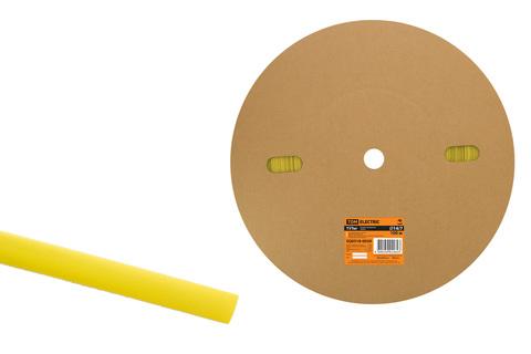 Термоусаживаемая трубка ТУТнг 14/7 желтая (100 м/ролл) TDM