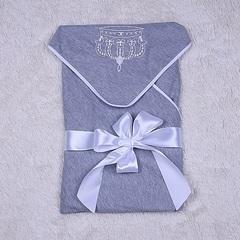 Летний конверт - плед Queen (серый)