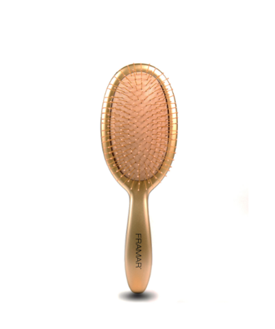 Framar Metallic Detangle Brush - Gold/Распутывающая щетка для волос «Золото»