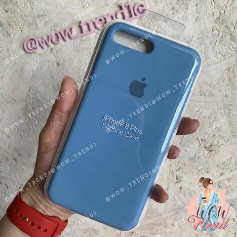 Чехол iPhone 7+/8+ Silicone Case /cornflower/ синие сумерки 1:1