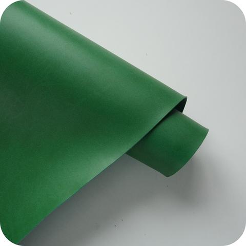 Кожзам переплетный матовый, ярко-зеленый