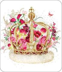 Открытка, Корона в цветах, 14 х 16.3 см, 1 шт.
