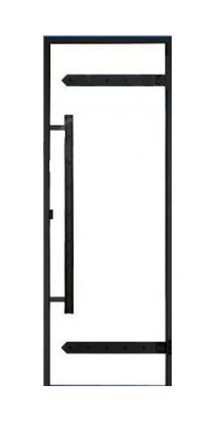 Дверь Harvia Legend STG 9×19 коробка сосна, стекло прозрачное, фото 1