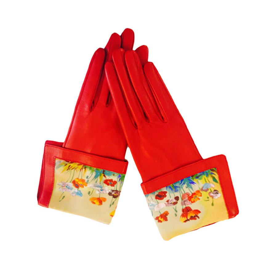 Перчатки Красные маки PR-1