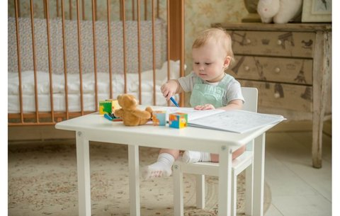 Комплект детской мебели Polini kids Simple 105 S, белый