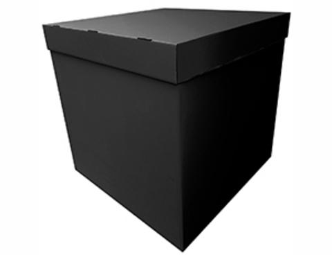 Коробка для воздушных шаров с персональным оформлением черная