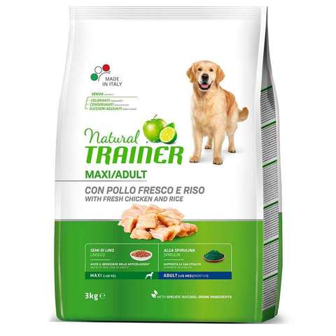 Сухой корм Trainer Natural Maxi with fresh chicken and rice