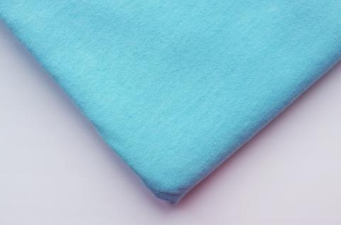Кулирная ткань (100%- х/б) 15х15см, светлая бирюза, ШТ