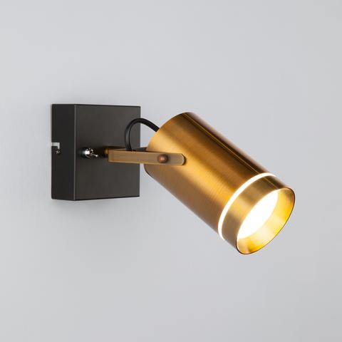 Настенный светодиодный светильник с поворотным плафоном 20063/1 LED античная бронза